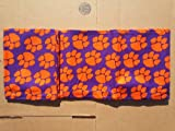 Clemson Tigers Table Cover Cotton 54 by 90 inches with Heavy PVC Backing Machine Washable at Amazon.com