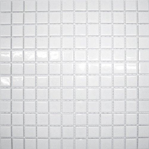 白色 モザイクタイル シート 23mm角 小口出荷【1シート】