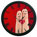 meSleep Love Fingers Wall Clock (With Glass)