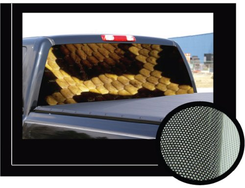 "SNAKE SKIN 22"" x 65"" -Rear Window Graphic- decal truck vinyl boa"