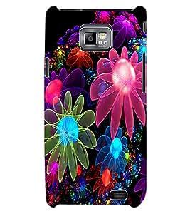 ColourCraft Digital Flowers Design Back Case Cover for SAMSUNG GALAXY S2 I9100