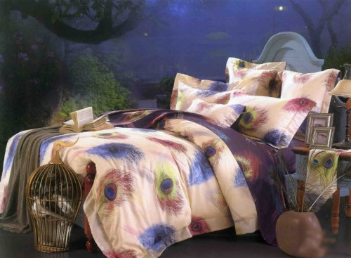 Peacock Feather Design Bedding front-1048755