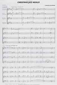 Christmas Jazz Medley for Saxophone Quartet by Lennie Niehaus