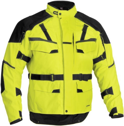 Firstgear Jaunt 12 Jacket , Gender: Mens/Unisex, Primary Color: Yellow, Size: XL, Distinct Name: DayGlo, Size Modifier: Tall, Apparel Material: Textile FTJ.1303.03.M011