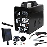 ZENY MIG130 Gas-Less Flux Core Wire Automatic Feed Welder Welding Machine w/Free Mask AC Current 60 AMP - Commercial Grade - 110 V (Tamaño: MIG130)