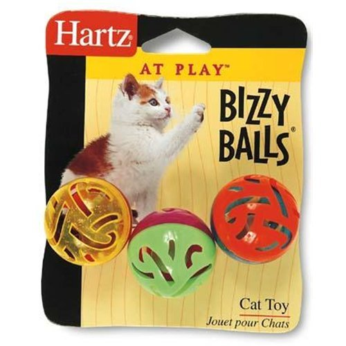 Hartz Cat Toy Bizzy Balls 3PK (Pack of 6) neje sh0006 3 funny plastic cat play toy blue
