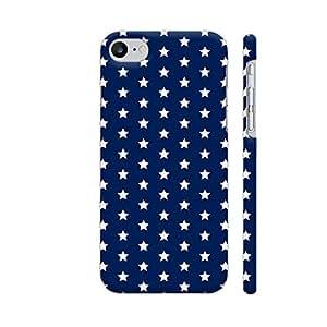 Colorpur White Stars On Blue Artwork On Apple iPhone 7 Cover (Designer Mobile Back Case) | Artist: Abhinav
