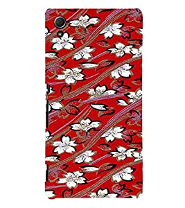 PrintVisa Flower Pattern 3D Hard Polycarbonate Designer Back Case Cover for Sony Xperia Z3 + Plus