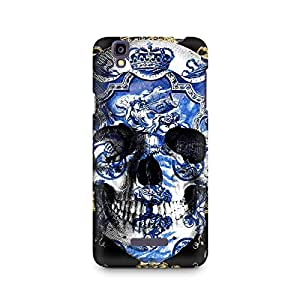 Mobicture Skull Abstract Premium Printed Case For Micromax YU Yureka A05510