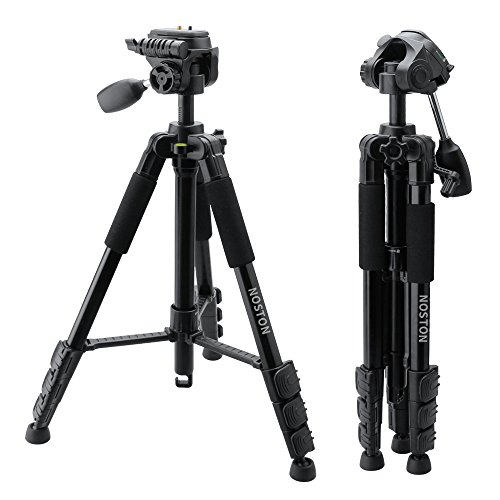 Aluminum-Camera-Tripod-NOSTON-62-Inch-Professional-Portable-Tripod-for-Camera-and-Video-Applicable-For-Canon-Nikon-Sony-Camcorder-Stand-with-Pan-Head-Plate-and-Travel-Carry-Bag-for-DSLR-DV-Video