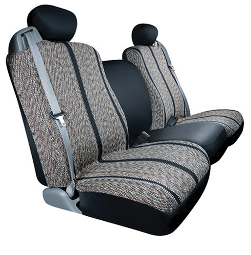 Saddleman Custom Made Front Bucket Seat Covers - Saddle Blanket Fabric (Black) front-72880