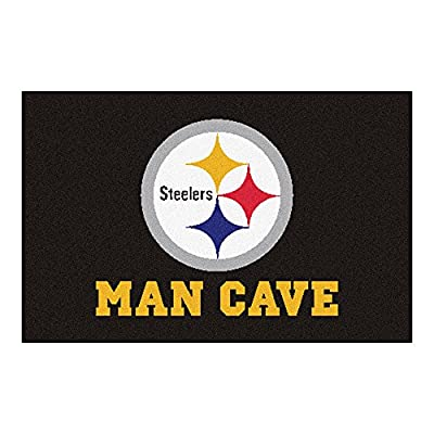 FANMATS 14357 NFL Pittsburgh Steelers Nylon Universal Man Cave Starter Rug