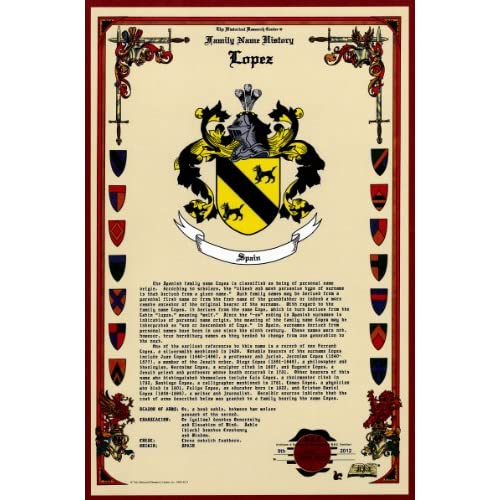 Amazon.com: Lopez Coat of Arms/Crest and Family Name History, meaning