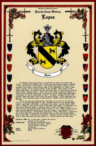 Lopez Coat Of Arms/Crest And Family Name History, Meaning & Origin Plus Genealogy/Family Tree Research Aid To Help Find Clues To Ancestry, Roots, Namesakes And Ancestors Plus Many Other Surnames At The Historical Research Center Store front-494850