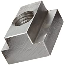 """Stainless Steel T-Slot Nut, Black Oxide Finish, Grade 2, Right Hand Threads, Class 2B 3/4""""-10 Threads, 1"""" Height Slot Depth, Made in US"""