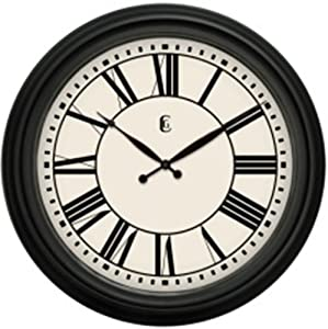 Geneva Clock Plastic Wall Clock 24 Inch Home