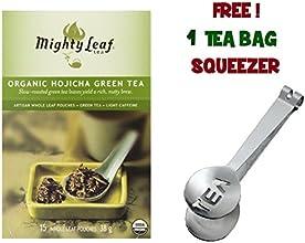 Mighty Leaf Tea  Organic Green Hojicha with FREE Tea Bag Squeezer 1 Pack