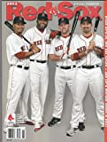 2011 Boston Red Sox Official Yearbook Adrian Gonzalez, David Ortiz, Carl Crawford, Kevin Youkilis Cover