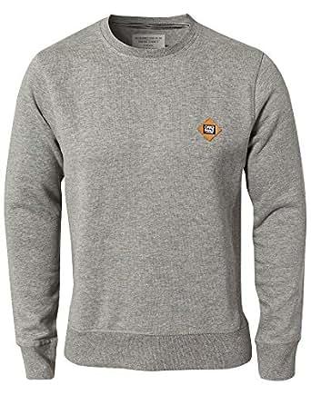 Jack and jones -  sweatshirt  - homme -  Gris - Xx-large