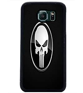 PrintDhaba Skull D-1461 Back Case Cover for SAMSUNG GALAXY S6 EDGE (Multi-Coloured)
