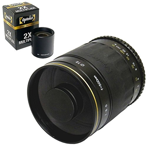 Opteka 500Mm / 1000Mm High Definition Mirror Telephoto Lens For Pentax K-30, K-2, K-M, K-5, K-R, K-X, K-7, K-2000, K20D, K100D, K110D, K10D And 645D Digital Slr Cameras