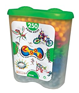 ZOOB 0Z11250 ZOOB 250 Moving Mind-Building Modeling System, Assorted Colors, 250-Pieces from Infinitoy