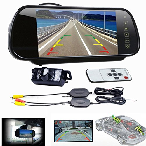 ODGear 7 LCD Mirror Monitor +Wireless Car Reverse Rear View Backup Camera Night Vision (Ram 2013 3rd Brake Light compare prices)