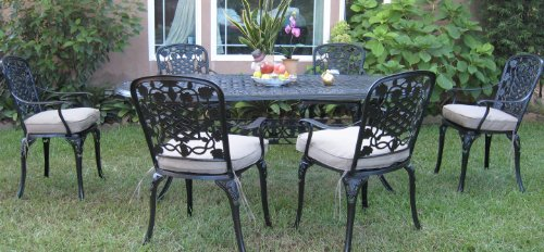 Patio Sets Clearance: Outdoor Cast Aluminum Patio Furniture 7 Piece...