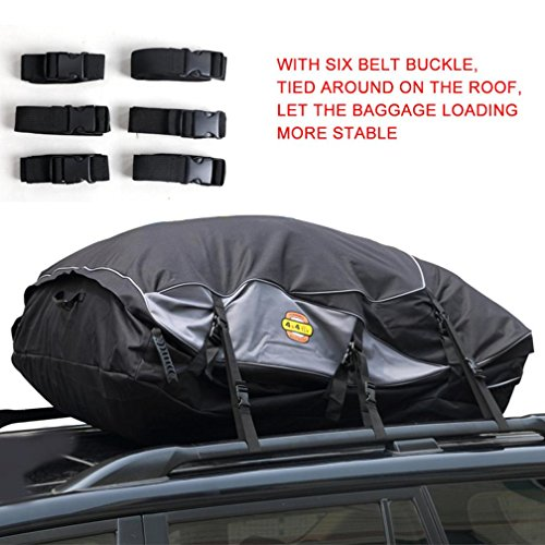 Car Top Cargo Bag ,Hmlai Rack Waterproof Carrier Bag for Vehicles Bandage buggy bag (M) (Hard Top Luggage Rack compare prices)