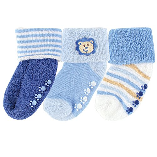 3-Pack Beary Cute Non-skid , Blue Lion, 6-12
