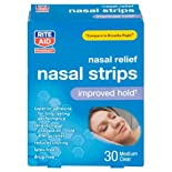 Rite Aid Nasal Strips, Clear, Medium, 30 ct