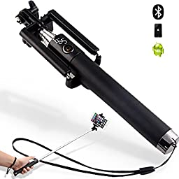 Prof. Selfie Lightweight Monopod Selfie Stick With built-in Bluetooth remote - Onyx (Black)