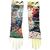 2 Pack Of High Quality Fun And Funky Nylson Stretch Cloth Fancy Dress Costume Fake Arm Art Tattoo Sleeves - B01C3064AE