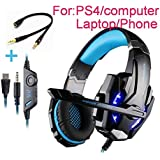 Beyda Tech NEW Gaming Headset Game Headphone Headsets With Microphone LED Light 3.5mm For PS4 Computer.Laptop.Tablet.All...