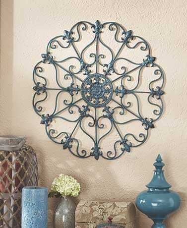 Iron Wall Medallion (Teal)