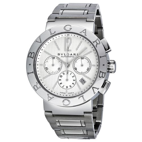 Bvlgari Bvlgari White Dial Chronograph Automatic Mens Watch BB42WSSDCH