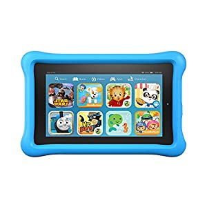 "Fire Kids Edition Tablet, 7"" Display, Wi-Fi, 8 GB, Blue Kid-Proof Case"