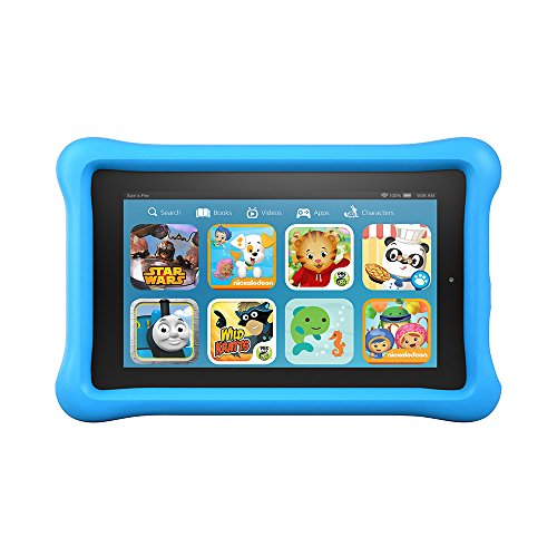 "Fire Kids Edition, 7"" Display, Wi-Fi, 8 GB, Blue Kid-Proof Case"
