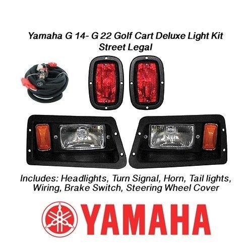 New Yamaha G14 G16 G19 G22 Deluxe Golf Cart Light Kit W Headlights & Led Tail Lights - Street Legal Kit