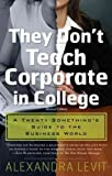 They Don't Teach Corporate in College: A Twenty-Something's Guide to the Business World [THEY DONT TEACH CORPORAT-R] [Paperback]
