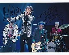 【直筆サイン入り写真】ザ・ローリング・ストーンズ The Rolling Stones メンバー4名 [グッズ/オートグラフ]【証明書(COA)・保証書付き】