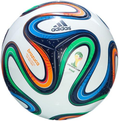 adidas BRAZUCA Top-Replique Pallone (G73622), Bianco (Weiß), 5