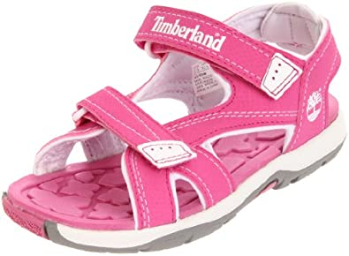 Timberland Mad River 2 Strap, Unisex-Child Sandals, Pink/Tree, 1 UK