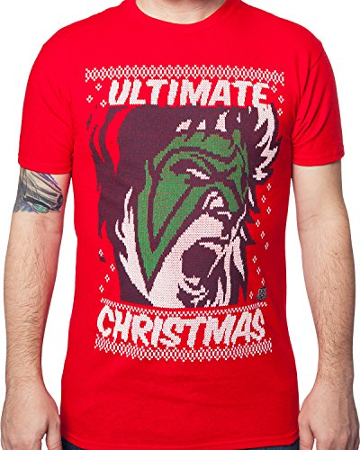 Ultimate Warrior Ugly Christmas Sweater T-Shirt