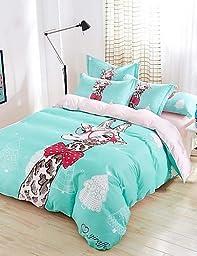 BENBU Modern bedding Baolisi Bedding Sets 4pcs Queen Size Girls Korean Love Bed