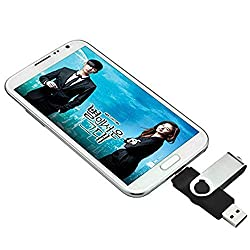 STONG OTG USB Flash Drive Dual Transforms Memory for Cell Phones & Tablet PCs for Samsung, HTC, Nokia, Blackberry, and Most OTG Capable Android Phones and USB for All Major PC OS (32G, Black)