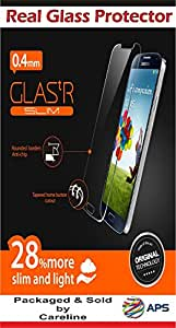 CARELINE Real Tempered Glass Scratch Protector Screen Guard for Motorola Moto E2 4G 3G