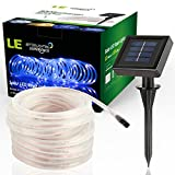 LE 10m 100 LED Solar Lichterkette Lichtschlauch Außen