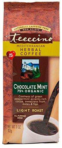 Teeccino Chocolate Mint Herbal Coffee Alternative, Caffeine Free, Acid Free, 11oz (Pack of 3) (Alternative Coffee compare prices)