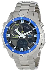 Casio Men's EMA-100D-1A2VCF Analog Display Quartz Silver Watch